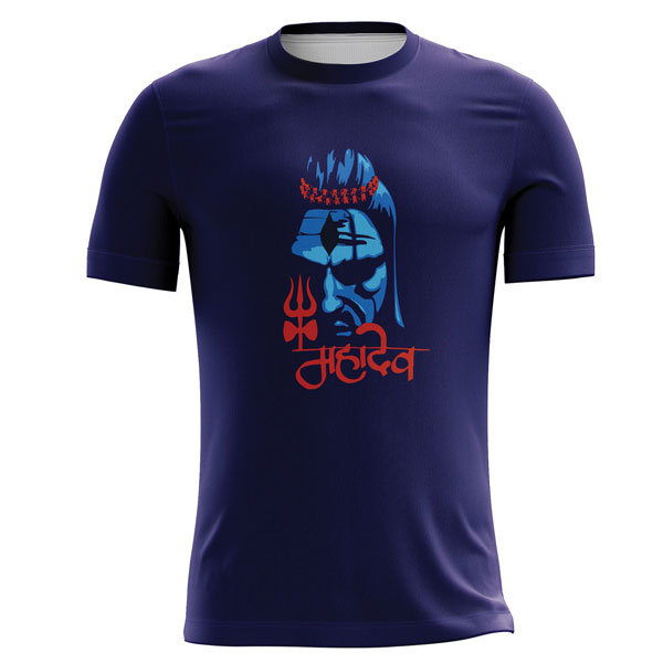 Lord Shiva Printed T Shirts Manufacturers in Sonipat